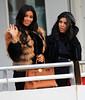 2010 Oct 29 - Kim Kardashian and Kourtney Kardashian go ride the Circle Line Cruise ship in NYC. Photo credit Jackson Lee