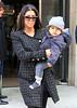 2010 Nov 11 - Kourtney Kardashian takes baby Mason to art class in NYC.  Photo Credit Jackson Lee