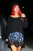 "2010 Nov 13 - Rihanna wears a ""F*CK YOU"" necklace when out and about in NYC for dinner.  Photo Credit Jackson Lee"