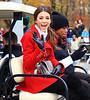 2010 Nov 25 - Victoria Justice, Miranda Cosgrove, Joan Rivers, Mellisa Rivers and Kanye West at the 2010 Macy's Thanksgiving Parade in NYC. Photo credit Jackson Lee