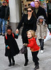 2010 Dec 7 - Angelina Jolie takes kids Zahara, Shiloh, Pax Thien to Lee's Art Shop in NYC. Photo Credit Jackson Lee