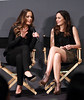 2011 Feb 1 - Minka Kelly and Leighton Meester at the Soho Apple Store in NYC promoting 'The Roommate'. Photo Credit Jackson Lee