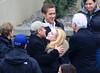2011 Feb 24 - Ryan Gosling, Evan Rachel Wood meet George Clooney's parents Nick Clooney and Nina Clooney on the set of 'The Ides of March' in Cincinnati, Oh. Photo Credit Jackson Lee