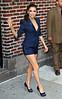 2011 Apr 4 - Eva Longoria exits the 'David Letterman Show' in NYC. Photo Credit Jackson Lee