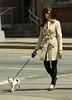 2011 Apr 9 - Emmy Rossum is all smiles while she walks her chihuahua Sugar with mom Cheryl Rossum in NYCl. Photo Credit Jackson Lee