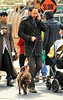 Non-Exclusive<br /> 2011 Apr 17 - Dave Matthews plays with his dog in NYC. Photo Credit Jackson Lee