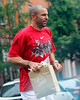 EXCLUSIVE<br /> 14 June 2008 - New York, NY - Jason Kidd tries to avoid the rain as he departs the Christian Leboutin store in the West Village.  Photo Credit Jackson Lee