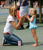 21 June 2008 - New York, NY - Heidi Klum, her kids Leni, Henry, Johan, and mom Ema go play at a public water playground in NYC.  Photo Credit Jackson Lee