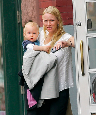 28 June 2008 - New York, NY - Naomi Watts, baby Alexander, Liev Schreiber out and about in NYC.  Photo Credit Jackson Lee