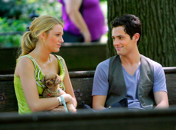 16 July 2008 - New York, NY - Blake Lively and Penn Badgley on location for 'Gossip Girl'.  Photo Credit Jackson Lee