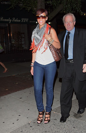 30 July 2008 - New York, NY - Rihanna out for dinner in NYC looking great.  Photo Credit Jackson Lee