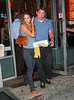 30 July 2008 - New York, NY - Matthew Broderick has his arm around Sarah Jessica Parker as both are all smiles as they depart a midtown restaurant in NYC.  These are first shots of the couple out and about since news broke that Matthew had an alleged extramarital affair.  Photo Credit Jackson Lee