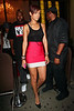 30 July 2008 - New York, NY - Rihanna looks red hot in a tight miniskirt as she parties in NYC without Chris Brown.  Photo Credit Jackson Lee