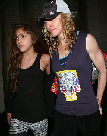 1 Aug 2008 - New York, NY - Madonna and Lourdes depart the Kabbalah Center in NYC.  Photo Credit Jackson Lee