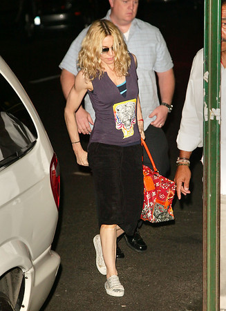 1 Aug 2008 - New York, NY - Madonna arrives at  the Kabbalah Center in NYC.  Photo Credit Jackson Lee