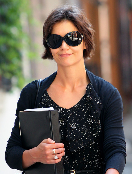 3 August 2008 - New York, NY - Katie Holmes goes to rehearsal for her upcoming Broadway show.   Photo Credit Jackson Lee