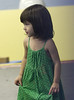 12 August 2008 - New York, NY - Suri Cruise at the gym in Chelsea Piers in a green dress.   Photo Credit Jackson Lee