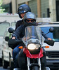 20 August 2008 - New York, NY - Orlando Bloom and Miranda Kerr go riding on a motorcycle in NYC.   Photo Credit Jackson Lee