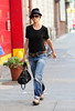 23 August 2008 - New York, NY - Katie Holmes departs for lunch during rehearsals for her upcoming Broadway debut.   Photo Credit Jackson Lee