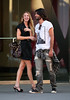 25 August 2008 - New York, NY - Whitney Port gets affectionate with a mystery man on the streets of NYC.   Photo Credit Jackson Lee
