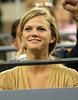 29 August 2008 - New York, NY - Brooklyn Decker watches Andy Roddick play against Ernests Gulbis in the 2008 US Open.   Photo Credit FZS/SIPA