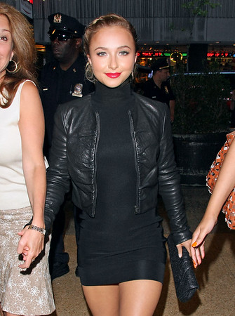 2 September 2008 - New York, NY - Hayden Panettiere arrives at MTV TRL Studio.   Photo Credit Jackson Lee