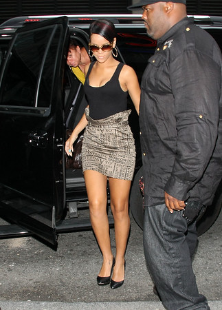 2 September 2008 - New York, NY - Rihanna and Chris Brown out and about in NYC.   Photo Credit Jackson Lee