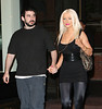 2 September 2008 - Christina Aguilera and Jordan Bratman go to Buddakhan for dinner.   Photo Credit Jackson Lee