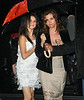 6 September 2008 - Selena Gomez and mom Mandy Gomez go to see Broadway's 'Chicago' during a rainstorm in NYC.   Photo Credit Jackson Lee/Tom Meinelt