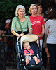 21 September 2008 - Gretchen Mol, Tod Williams, mother Janet Mol take son Ptolemy John Williams to a waterpark in NYC.  Photo Credit Jackson Lee/Tom Meinelt
