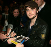 25 September 2008 - Daniel Radcliffe at the premiere of his new show 'Equus'.  He is seen greeting fans and signing autographs at the opening night of the show. Photo Credit Jackson Lee