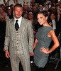 26 September 2008 - David Beckham and Victoria Beckham promote their new perfume line at Macy's.  Photo Credit Jackson Lee