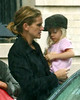 28 September 2008 - Julia Roberts takes twins Hazel and Phinnaeus out for a playdate at a friend's residence.  Photo Credit Jackson Lee
