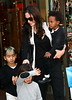 4 October 2008 - Angelina Jolie takes Zahara, Maddox, Pax Thien to Lee's Art Shop in NYC.  Photo Credit Jackson Lee