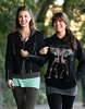 7 October 2008 - Whitney Port walks and chats alongside the Central Park reservoir with a friend on a beautiful day in NYC.  Photo Credit Jackson Lee