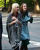 10 October 2008 - Taylor Momsen and Leighton Meester film a scene where Taylor's character cries then gets into a cab with Leighton's character.  Photo Credit Jackson Lee
