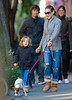 19 October 2008 - Sarah Jessica Parker takes son James Wilkie to walk the family dog.  Earlier, she took James Wilkie to see 'Peter and the Wolf'.   Photo Credit Jackson Lee
