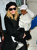 25 October 2008 - Madonna departs the kabbalah center in NYC with kids Lourdes, Rocco, and David Banda a few days after her upcoming divorce with Guy Ritchie was announced.   Photo Credit Jackson Lee