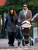 EXCLUSIVE<br /> 26 October 2008 - Jessica Alba, Cash Warren, and baby Honor spend precious family time together in sunny Brooklyn.   The family is all smiles as they walk around enjoying the good weather.  Photo Credit Jackson Lee