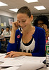 30 October 2008 - Sarah Jessica Parker makes calls to undecided voters at the phone bank at Obama NYC Headquarters urging them to vote for Obama.   Photo Credit Jackson Lee