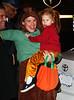 31 October 2008 - Jennifer Garner and Violet Affleck dress up as kangaroos Fred and Ted on Halloween.   Photo Credit Jackson Lee