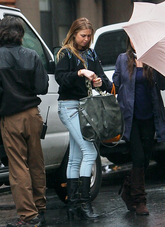 5 November 2008 - Whitney Port manages to stay fashionable while out and about in the wind and rain in NYC.   Photo Credit Jackson Lee