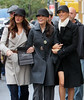 6 November 2008 - Brooke Shields, Lindsay Price, Kim Raver are all smiles when they go hand-in-hand shopping on Madison Ave. during a break in filming of 'Lipstick Jungle'.   Photo Credit FZS/SIPA