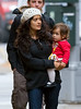 9 November 2008 - Salma Hayek and daughter Valentina takes a stroll in NYC.   Photo Credit Jackson Lee
