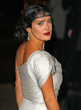 9 November 2008 - Salma Hayek at the 2008 Hollywood Domino Tournament benefitting the Art of Elysium in NYC.   Photo Credit Jackson Lee