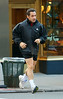 17 November 2008 - Nicolas Sarkozy takes a jog in Central Park.   Photo Credit FZS/SIPA