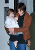22 November 2008 - Katie Holmes and Suri Cruise with a cupcake in hand head out to her show 'All My Sons'.   Photo Credit Jackson Lee