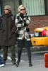 22 November 2008 - Kirsten Dunst is freezing in 25-degree NYC weather.   Photo Credit Jackson Lee