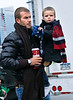 27 November 2008 - David and Victoria Beckham take their sons Brooklyn, Romeo, and Cruz to the Big Apple Circus in NYC.   Photo Credit Jackson Lee
