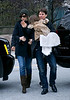 27 November 2008 - Tom Cruise, Katie Holmes, Suri Cruise, and Isabella Cruise arrive at the Big Apple Circus in NYC.   Photo Credit Jackson Lee